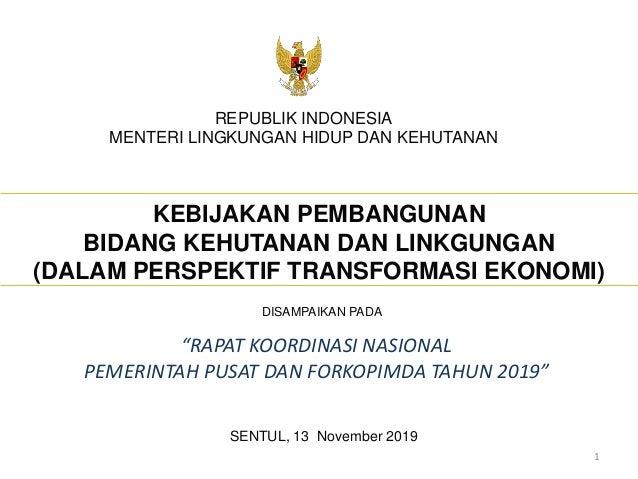 Panel Viii Rakornas 2019 Menteri Lhk