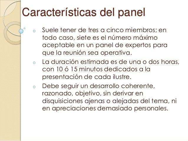 Panel y debate for Cuales son las caracteristicas de un mural