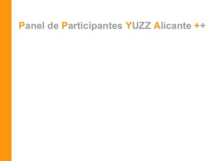 P anel de  P articipantes   Y UZZ   A licante  + +