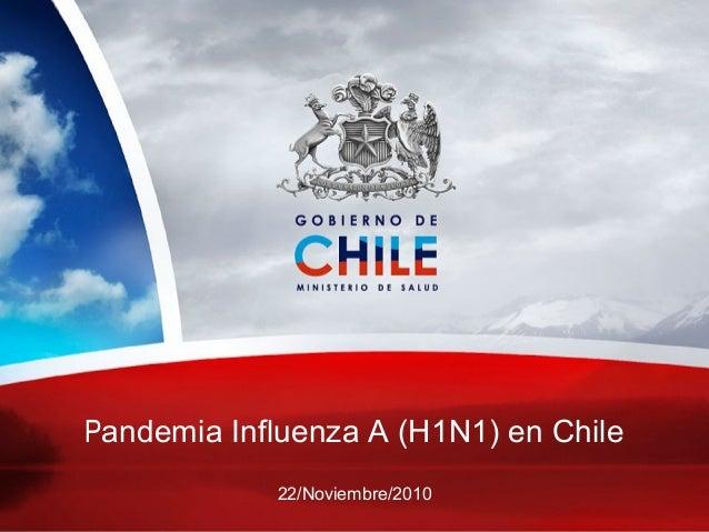 Influenza A H1N1 2009 Lecciones aprendidas Pandemia Influenza A (H1N1) en Chile 22/Noviembre/2010