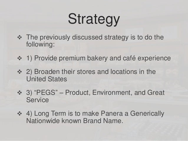 Panera Bread Co. Case study