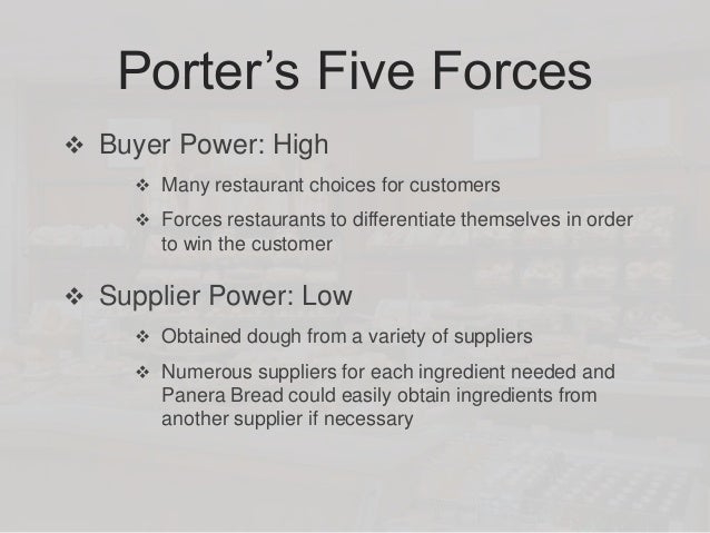 panera bread porter s five forces Shake shack (nyse shak) is a fast-casual food restaurant with locations in the  united states and  analysis of competitive forces rivalry  industry are:  panera bread, chipotle, qdoba, in-n-out burger, and five guys  consumer  goods restaurant industry are chiplote mexican grill and panera bread shake  shack.