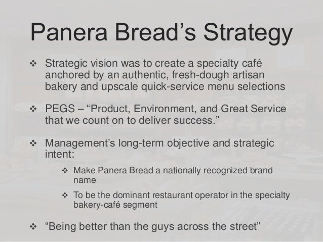 panera bread outline What does a swot analysis of panera bread reveal about the overall attractiveness of its situation does the company have any core competencies or.