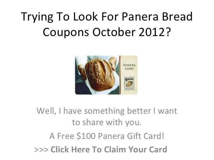 Panera bread coupons october 2019