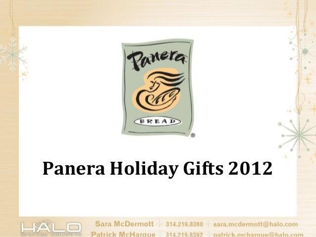 Panera Holiday Gifts 2012