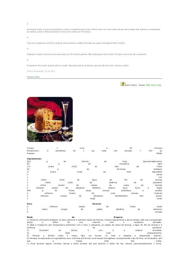 Panetone diet Slide 3