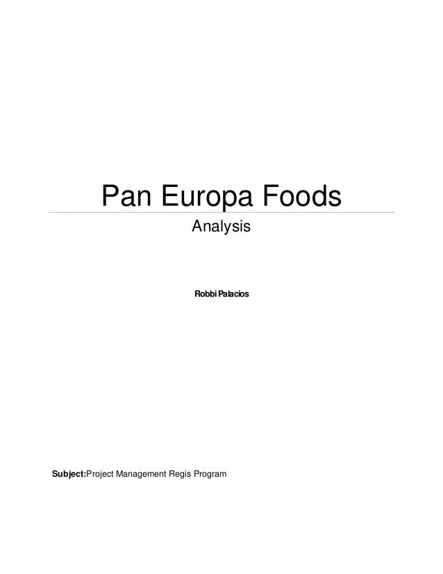 Essay about Pan Europa Project Management Case Study ...