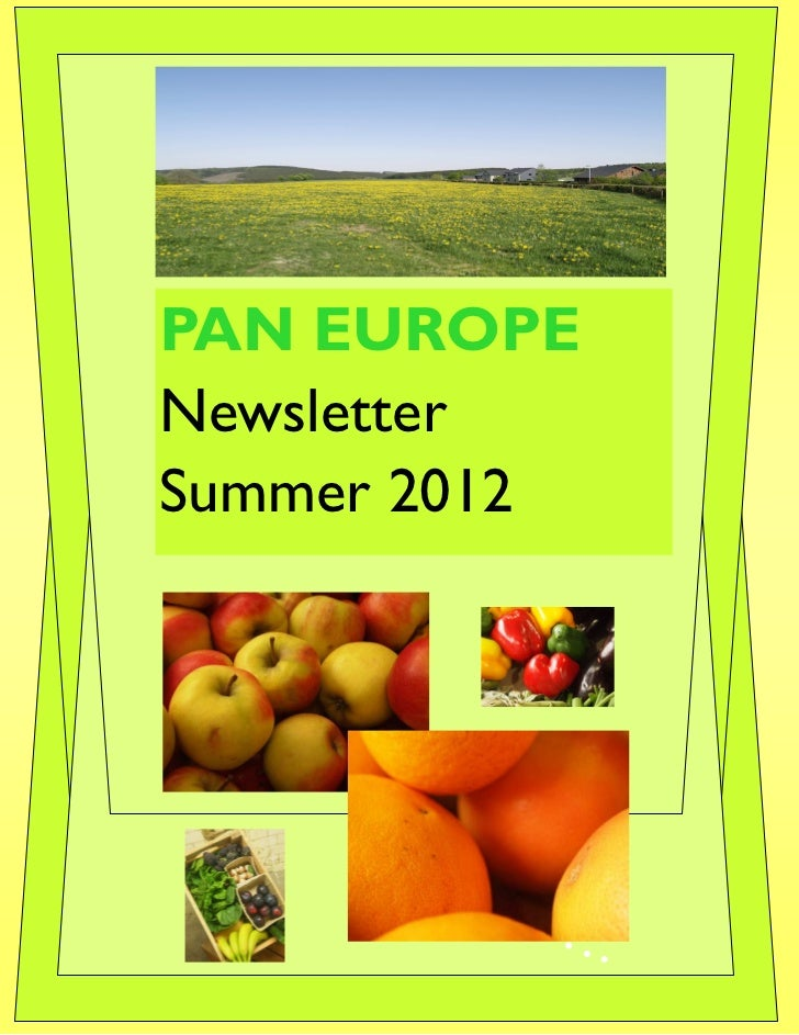 PAN EUROPENewsletterSummer 2012