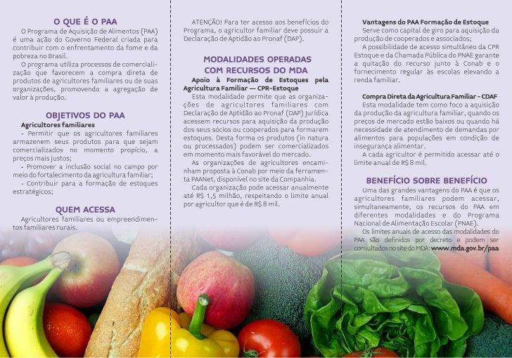 Panfleto sobre PNAE e PAA