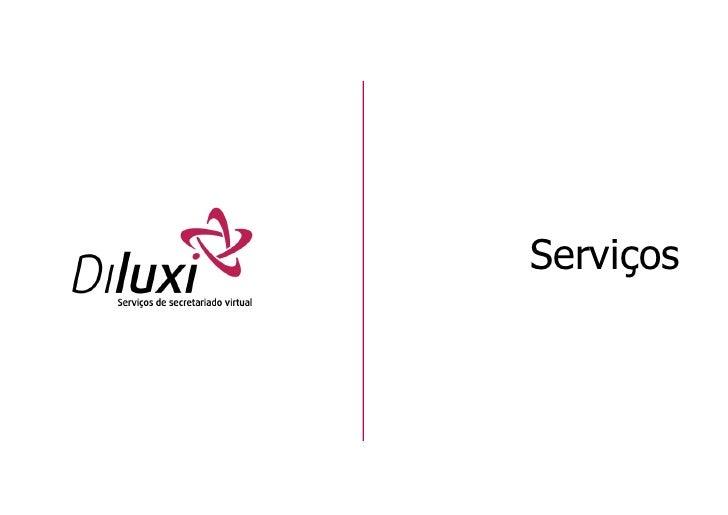 Panfleto de Serviços de Secretariado Virtual Diluxi