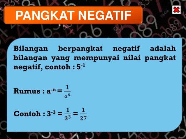 Matematika Pangkat Tak Sebenarnya