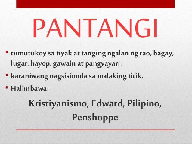 Lagyan ngekis (X) ang pangngalang hindi kabilang sa pangkat. 1.ama ate bahay ina 2.Ilocos Cebu tribo Davao 3.Sarah pinsan ...