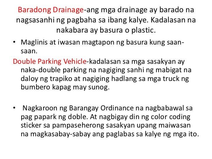 Pangunahing problema sa aking barangay
