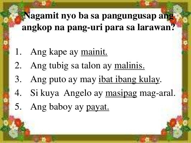 mga uri ng talata Isang maikling palabas na gawa ng mga mag aaral sa ikapitong baitang, pangkat 4 ang team-ba.