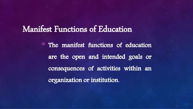 latent function of education examples