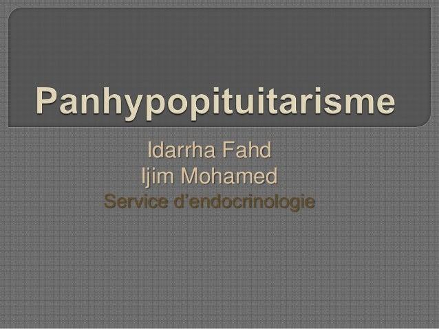 Idarrha Fahd Ijim Mohamed Service d'endocrinologie