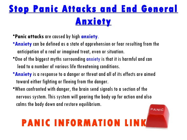 How to manage panic attacks and anxiety