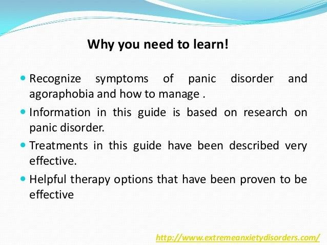 Panic disorder and agoraphobia Slide 3