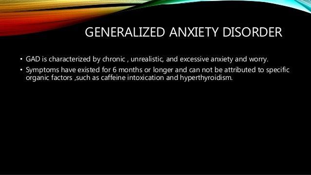 Panic disorder and gad