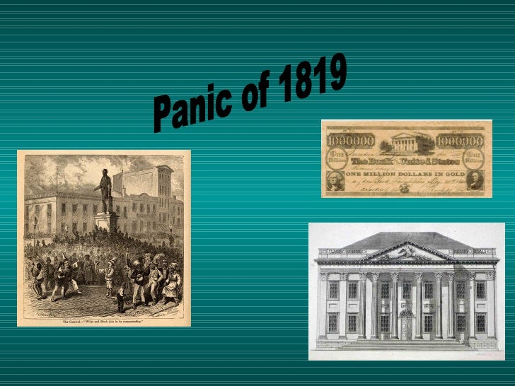 what was the panic of 1819