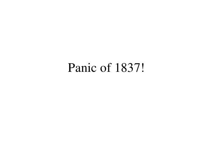 Panic of 1837!