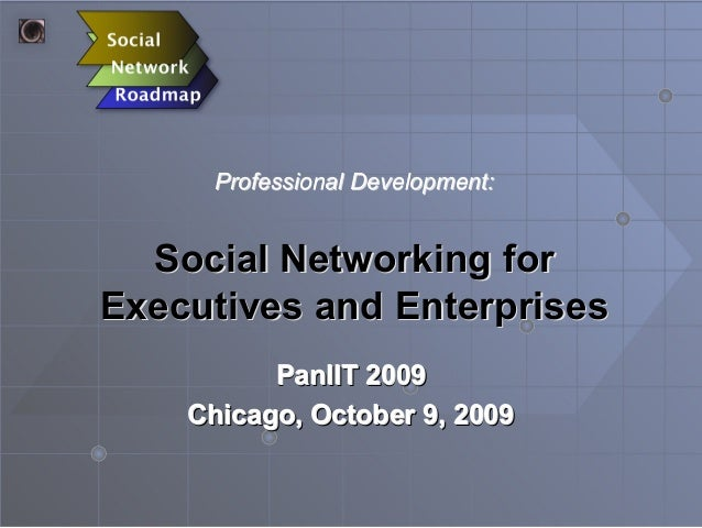 Social Networking forSocial Networking for Executives and EnterprisesExecutives and Enterprises PanIIT 2009 Chicago, Octob...