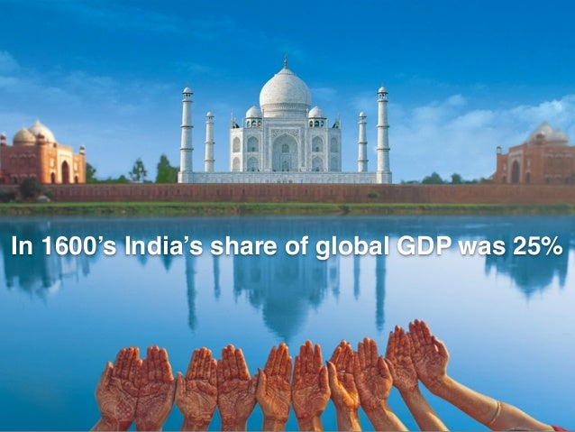10 In 1600's India's share of global GDP was 25%