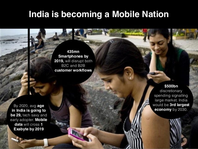 4 India is becoming a Mobile Nation By 2020, avg age in India is going to be 29, tech savy and early adopter. Mobile data ...