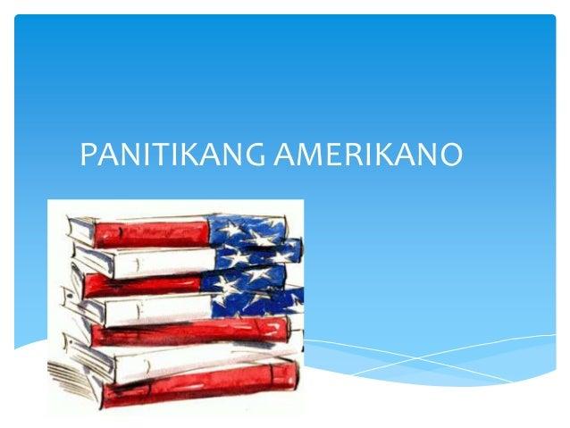 PANITIKANG AMERIKANO