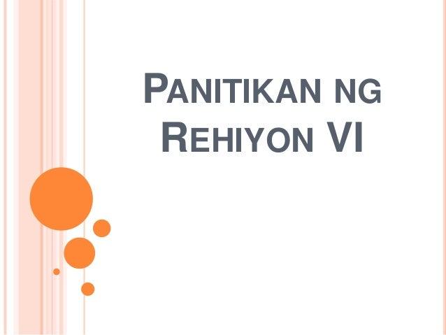 PANITIKAN NG REHIYON VI
