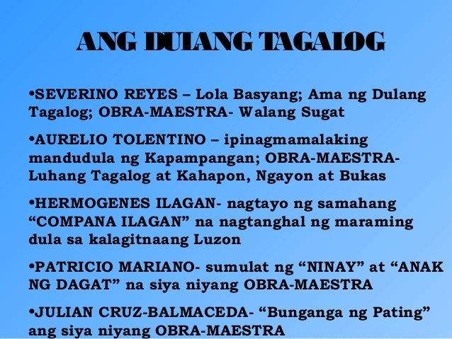 tagalog essay tungkol sa dula