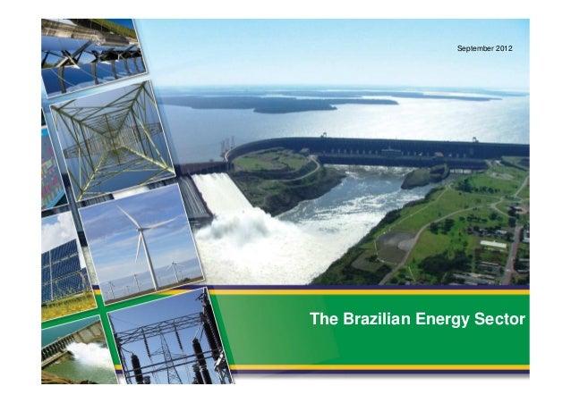 September 2012The Brazilian Energy Sector