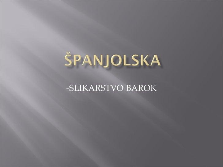 -SLIKARSTVO BAROK