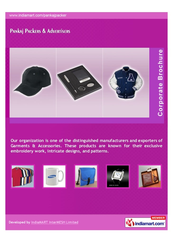 Our organization is one of the distinguished manufacturers and exporters ofGarments & Accessories. These products are know...