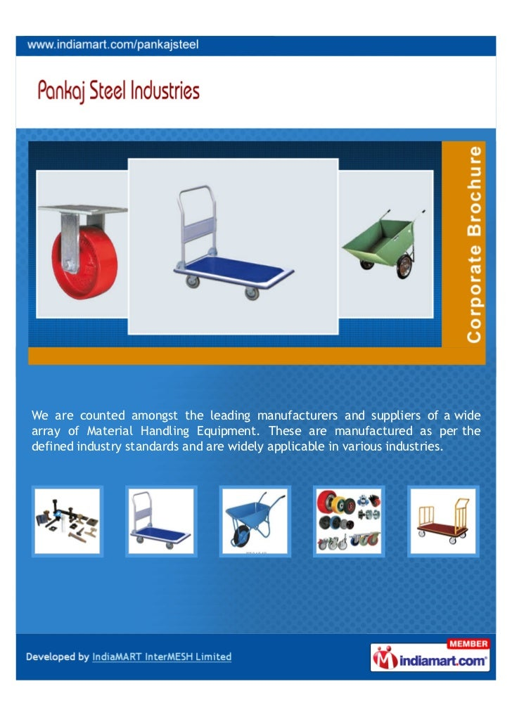 We are counted amongst the leading manufacturers and suppliers of a widearray of Material Handling Equipment. These are ma...
