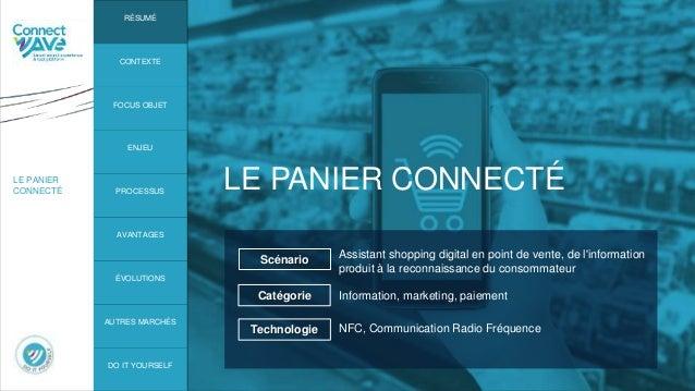 LE PANIER CONNECTÉ LE PANIER CONNECTÉ Assistant shopping digital en point de vente, de l'information produit à la reconnai...
