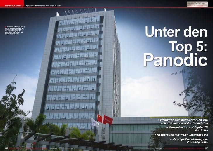 Firmen Report                       Receiver Hersteller Panodic, China                                                    ...
