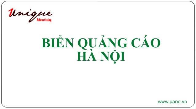 BIỂN QUẢNG CÁO HÀ NỘI www.pano.vn