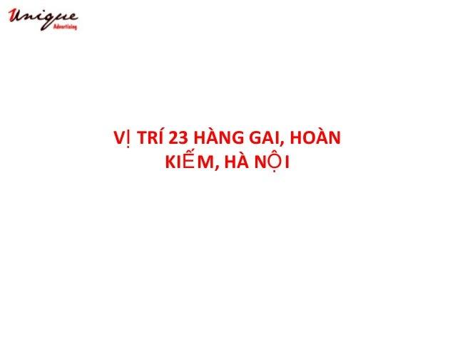 23 HÀNG GAI – HOÀN KI MẾ Tây Sơn – Nguyễn Trãi – Royal City