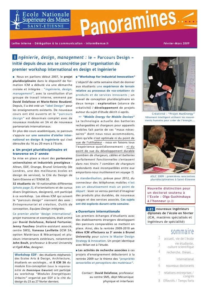 Lettre interne - Délégation à la communication - inform@emse.fr                                              Février-Mars ...