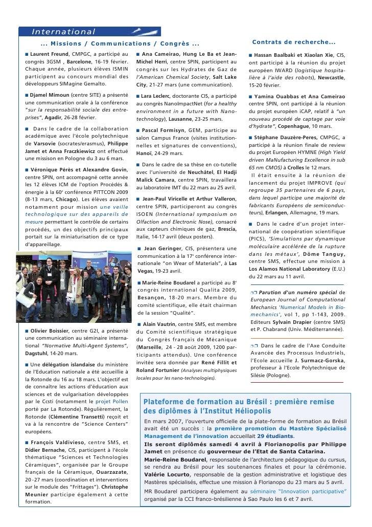 Vie étudiante ... Culture scientifique www.emse.fr/larotonde                                • Une belle programmation  Nou...