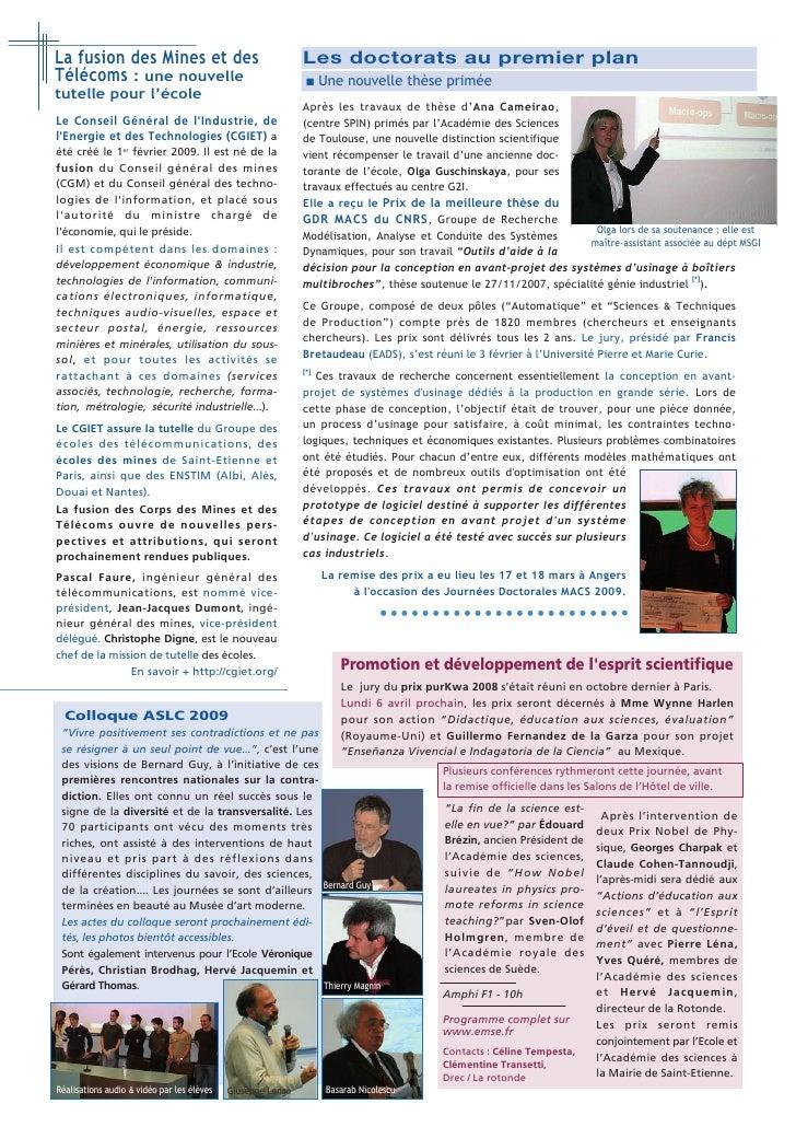 ...Accueil de nouveaux stagiaires                                                      Relations École / Entreprises  au c...