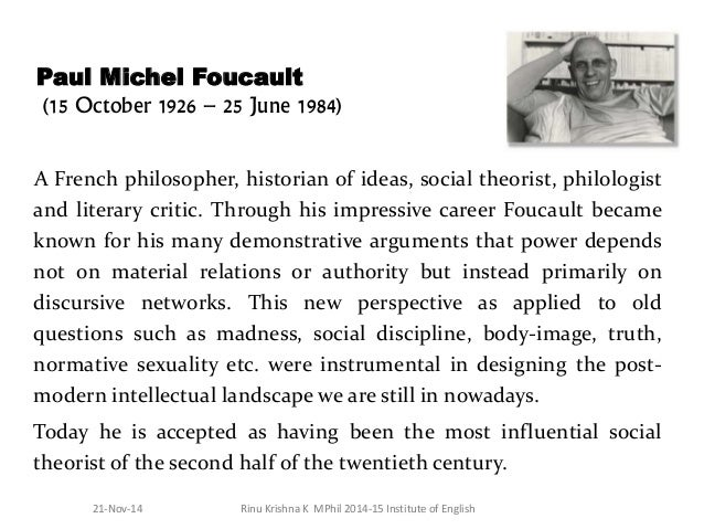 foucault and truffaut power and social As a result, foucault sees power as productive, and the subject it produces (forms of power) can be productive as well  foucault and truffaut power and social.