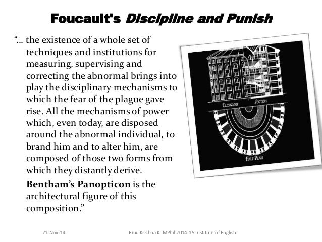 essay on panopticism Michel foucault's panopticism this essay michel foucault's panopticism and other 64,000+ term papers, college essay examples and free essays are available now on reviewessayscom.