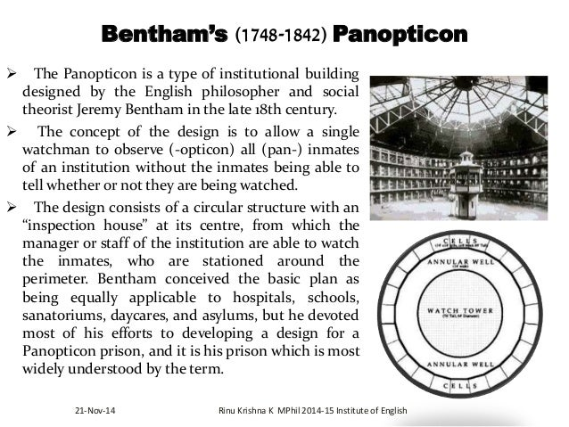 the panopticon essay Critical perspective of marxism and foucauldian sociology essay the panopticon as a illustration of society (hanin essay.
