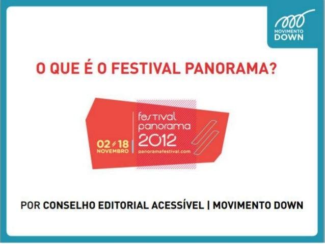 O que é o Festival Panorama
