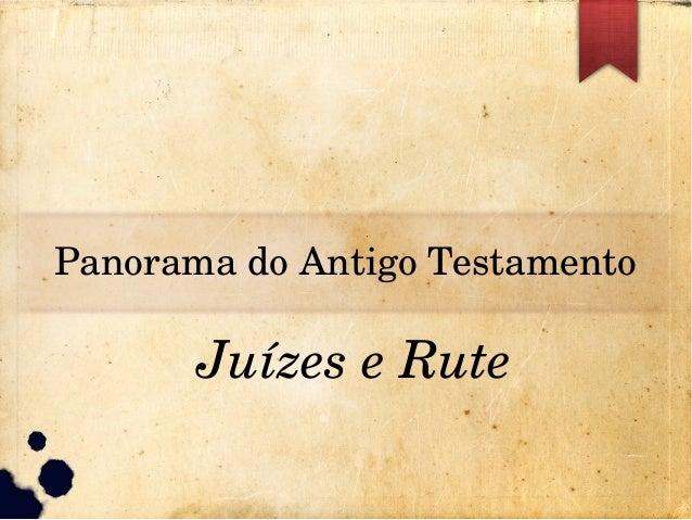 PanoramadoAntigoTestamento JuízeseRute