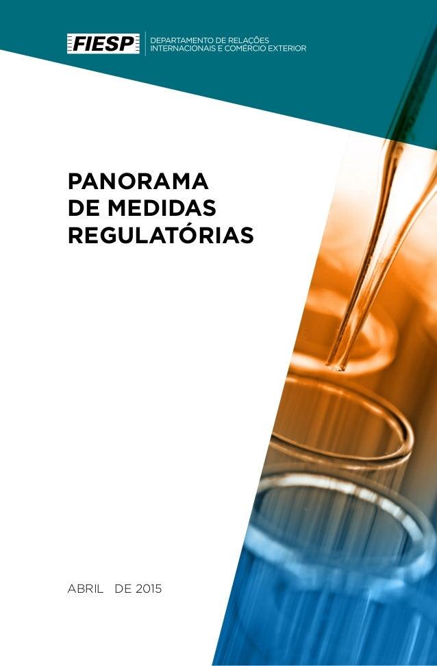 PANORAMA DE MEDIDAS REGULATÓRIAS ABRIL DE 2015