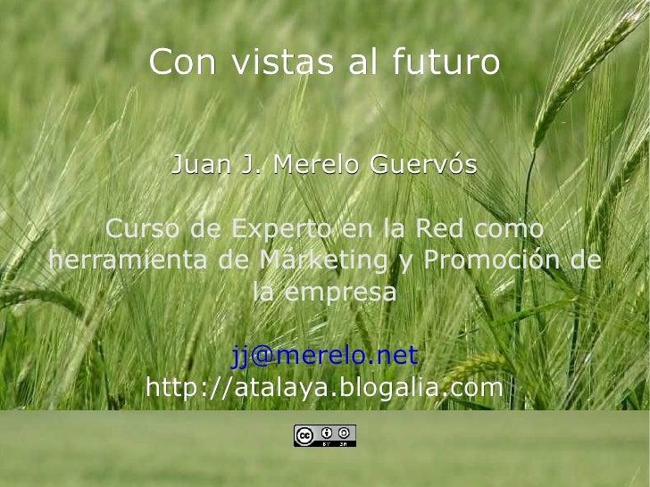 Con vistas al futuro Juan J. Merelo Guervós Curso de Experto en la Red como herramienta de Márketing y Promoción de la emp...