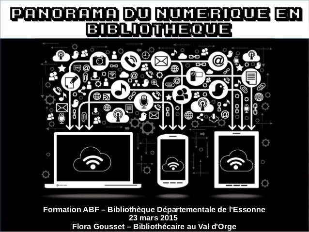 Panorama du numerique enPanorama du numerique en bibliothequebibliotheque Formation ABF – Bibliothèque Départementale de l...